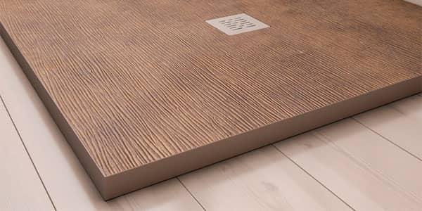 plato de ducha textura en bambú